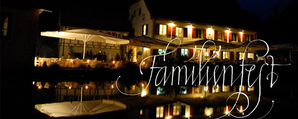 Familienfeiern planen in Stuttgart, Heilbronn, Filderstadt und Umgebung